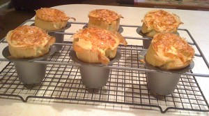 Popovers with Gruyere Cheese...
